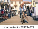 happy senior couple having fun... | Shutterstock . vector #274716779