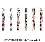 team over white workforce... | Shutterstock . vector #274721276