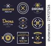 vector set of drone flying club ... | Shutterstock .eps vector #274727126