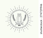 beer brewery emblems. | Shutterstock .eps vector #274729946