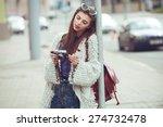 urban fashion woman tourist... | Shutterstock . vector #274732478