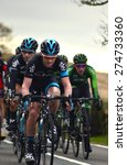 Small photo of Cragg Road, Mytholmroyd, May 03 Tour De Yorkshire bike race winner Lars Petter Nordhaug from team SKY on May 03 2015 at Cragg Road, West Yorkshire.