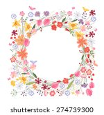 vintage round frame with...   Shutterstock .eps vector #274739300