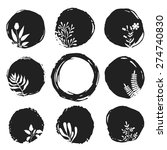 vector ink sketch spots with... | Shutterstock .eps vector #274740830