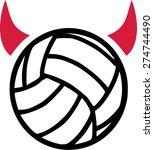 volleyball devil | Shutterstock .eps vector #274744490