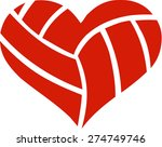 volleyball heart | Shutterstock .eps vector #274749746