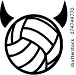 volleyball with devil horns | Shutterstock .eps vector #274749770