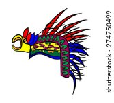 bonnet aztec eagle's head | Shutterstock .eps vector #274750499