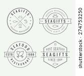 set of vintage seafood... | Shutterstock .eps vector #274753250