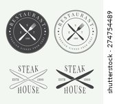 set of vintage restaurant logo  ... | Shutterstock .eps vector #274754489