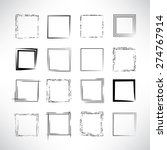 hand drawn scribble squares ... | Shutterstock .eps vector #274767914