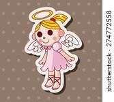 angel   cartoon sticker icon | Shutterstock . vector #274772558