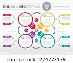web template for circle diagram ... | Shutterstock .eps vector #274773179