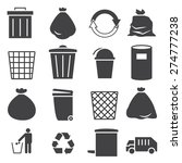trashcan icon set | Shutterstock .eps vector #274777238