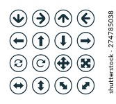 arrows icons universal set for... | Shutterstock .eps vector #274785038