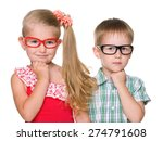 a portrait of two clever little ... | Shutterstock . vector #274791608