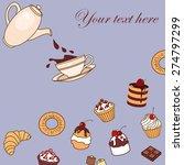 vector frame card invitation... | Shutterstock .eps vector #274797299