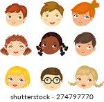 boys and girls face set | Shutterstock .eps vector #274797770