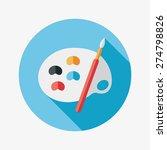 art palette with paint brush...   Shutterstock . vector #274798826