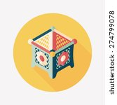 baby cradle bed flat icon with... | Shutterstock . vector #274799078