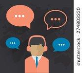 male call center avatar. man... | Shutterstock . vector #274803320