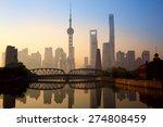 shanghai skyline at sunrise... | Shutterstock . vector #274808459