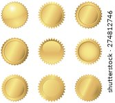 gold seals   set of 9 different ... | Shutterstock .eps vector #274812746