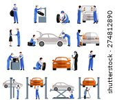 auto mechanic car service... | Shutterstock .eps vector #274812890