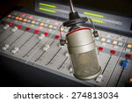 audio console and microphone in ... | Shutterstock . vector #274813034