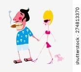 tourist couple vector... | Shutterstock .eps vector #274813370