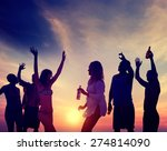 people celebration beach party... | Shutterstock . vector #274814090