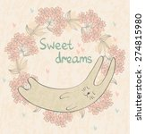 cartoon sleeping rabbit. cute... | Shutterstock .eps vector #274815980