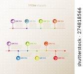 timeline infographic | Shutterstock .eps vector #274818566