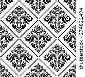 damask seamless pattern. fine... | Shutterstock .eps vector #274821494