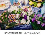 catering table set service with ... | Shutterstock . vector #274822724
