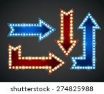 set of red and blue arrows with ...   Shutterstock .eps vector #274825988