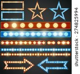 red and blue design elements... | Shutterstock .eps vector #274825994
