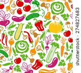 seamless pattern vector... | Shutterstock .eps vector #274827683