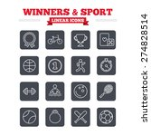 winners and sport linear icons... | Shutterstock .eps vector #274828514