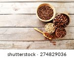 various of coffee in small... | Shutterstock . vector #274829036