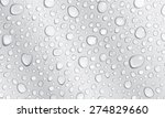 background of water droplets on ... | Shutterstock .eps vector #274829660