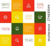 colorful squared infographic...