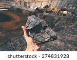 coal on the palm   czech... | Shutterstock . vector #274831928