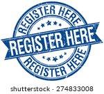 register here grunge retro blue ...   Shutterstock .eps vector #274833008