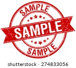 sample grunge retro red... | Shutterstock .eps vector #274833056
