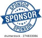 sponsor grunge retro blue...   Shutterstock .eps vector #274833086