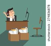 businessman having shoulder... | Shutterstock .eps vector #274836878
