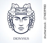dionysus  ancient greek god of... | Shutterstock .eps vector #274839980