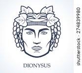dionysus  ancient greek god of... | Shutterstock .eps vector #274839980