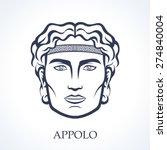 appolo  apollo   ancient greek... | Shutterstock .eps vector #274840004